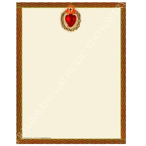 "Sacred Heart Stationary - 8.5""x11"""