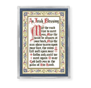 Magnet - Irish Blessing - Gold Stamped with Easel