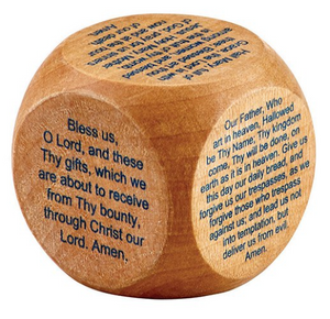 "PRAYER CUBE - 6 PRAYERS - 1 5/8"" WOOD"