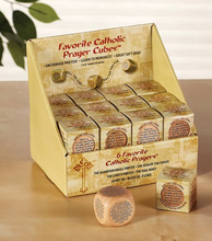 "Load image into Gallery viewer, PRAYER CUBE - 6 PRAYERS - 1 5/8"" WOOD"