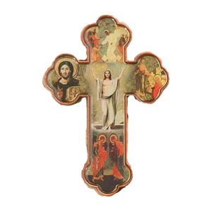 RISEN CHRIST CROSS 3""