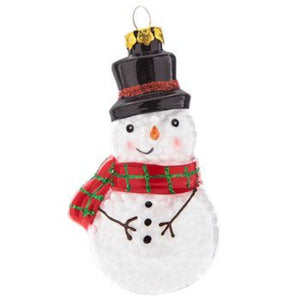 ORNAMENT SNOWMAN-HOLLOW GLASS