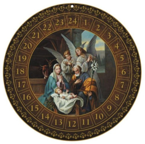 Advent Calendar -  Nativity Scene - Round