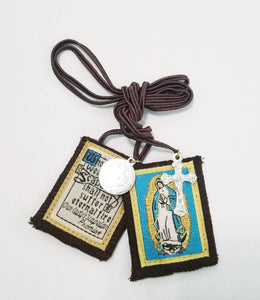 SCAPULAR - OUR LADY OF GUADALUPE WITH MEDALS