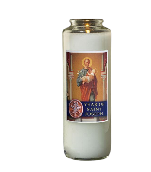 6 Day Devotional Candle - Year of St Joseph - 8.125