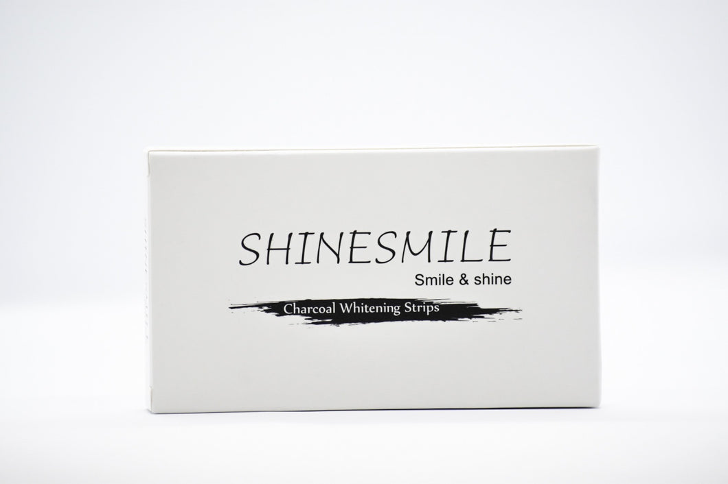 Coconut charcoal whitening strips