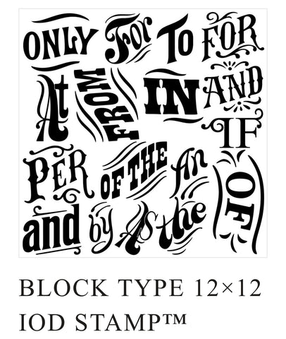 Block Type Stamp NEW