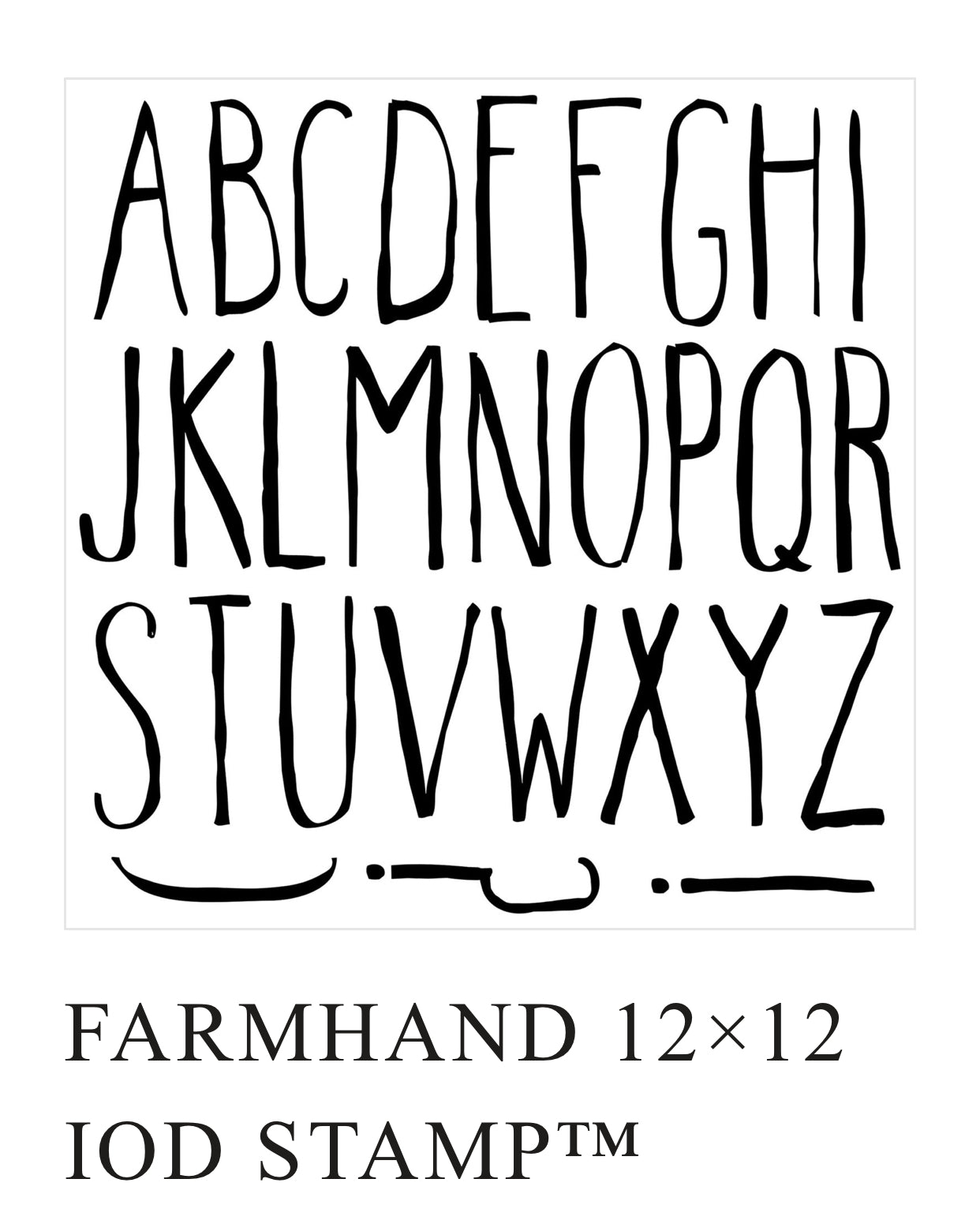 Farmhand Type Stamp NEW