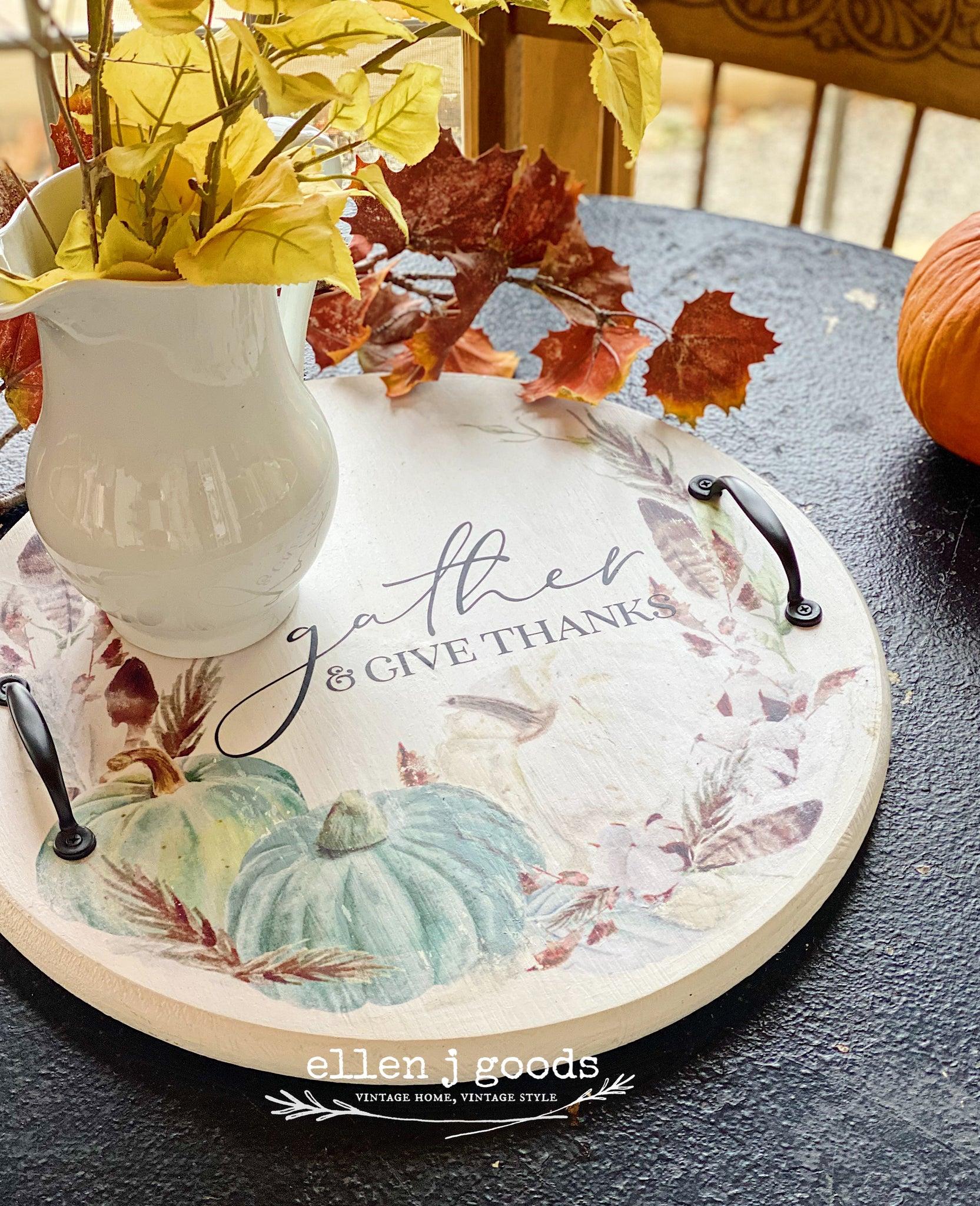 Fall Pumpkin Tray PDF FILE FOR PRINTING