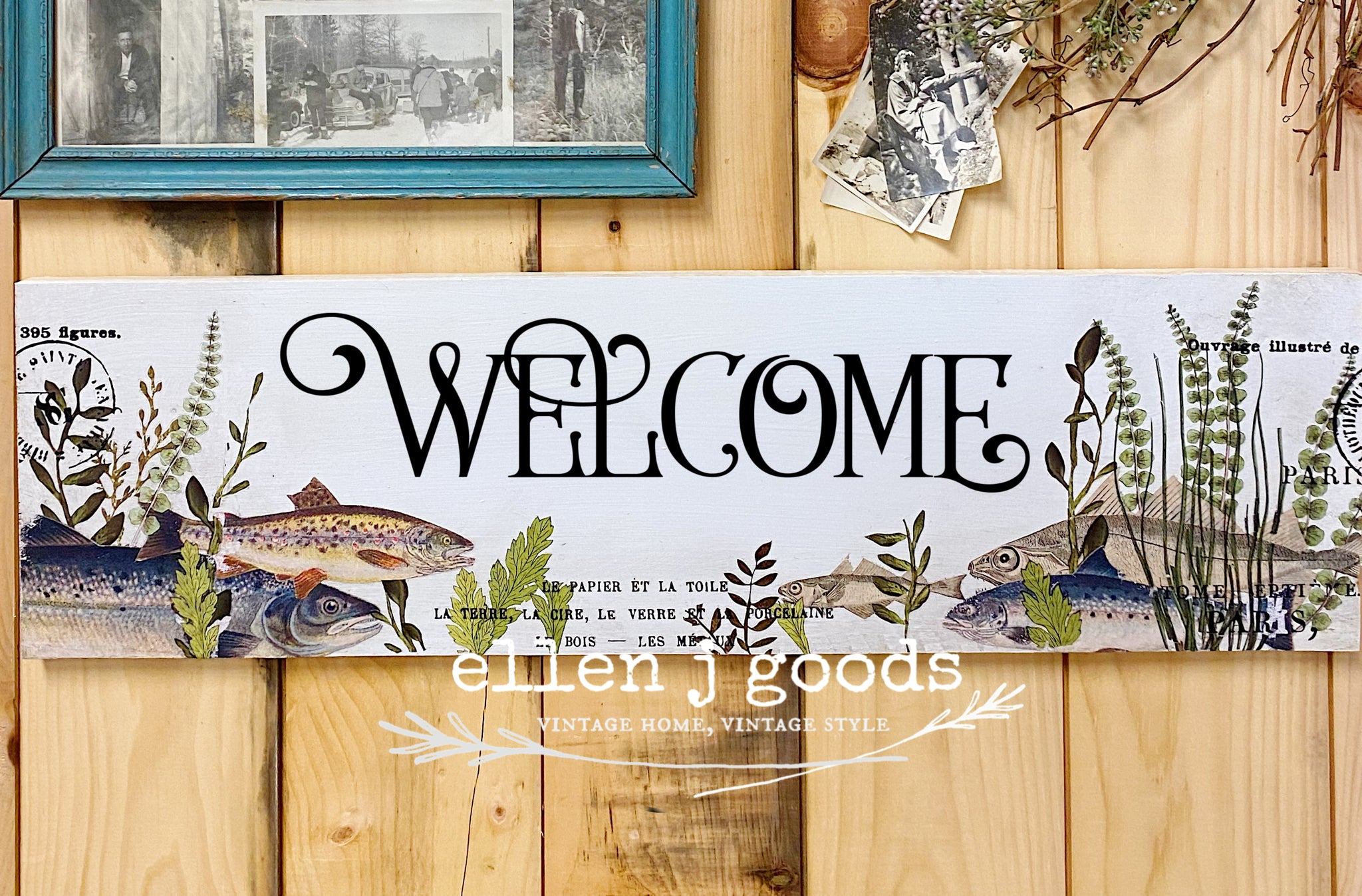 Multi Media Fish Board Sign Kit  with three options.