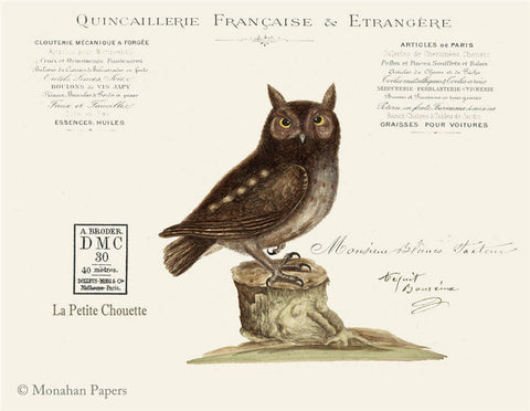 monahan paper X490bb Francaise Owl