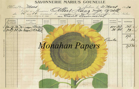 monahan paper bot12b sunflower ledger