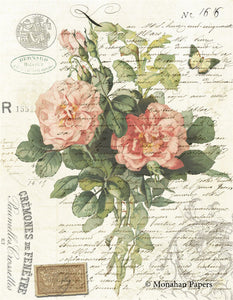 Botanical 67, Pink Roses spray