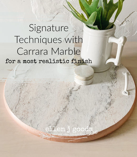 Carrara Marble Signature Techniques VIDEO WORKSHOP