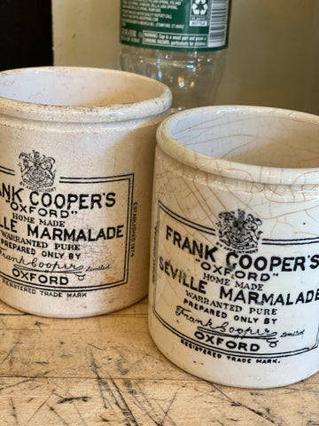 Frank Cooper Marmalade Advertising Pot 1# Chubby – Antique English Advertising Pot – Grade A