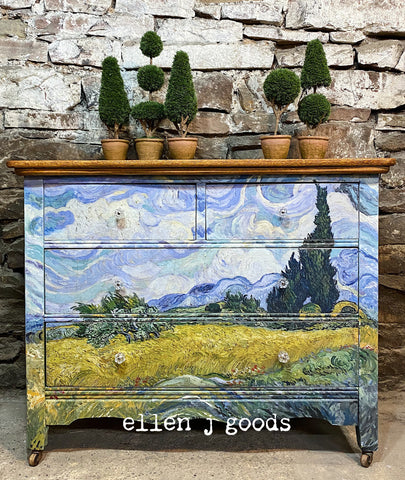 Wheat Fields and Cypress Dresser. An Ode to Van Gogh