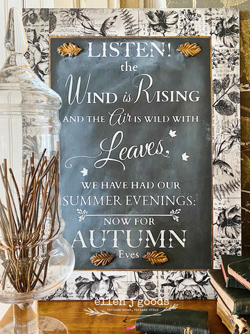 Autumn Eves Sign ( FB live tutorial Sunday, Sept 27th 4:00pm