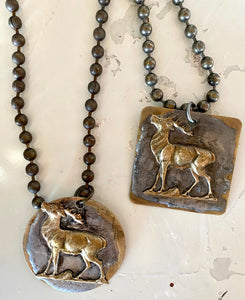 "2"" Hand crafted chunky brass pendants"
