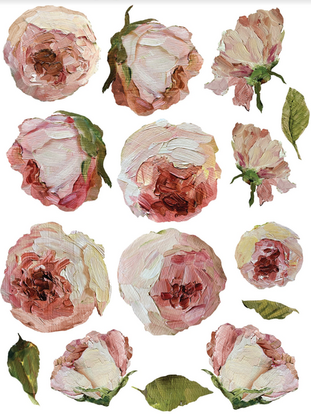 NEW Painterly Florals Transfer