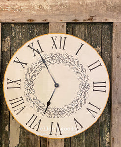 Wood Farmhouse Clock Sunday, April 26th 1:00pm
