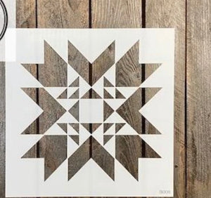 Baker Nest reusable stencil Nordic Star