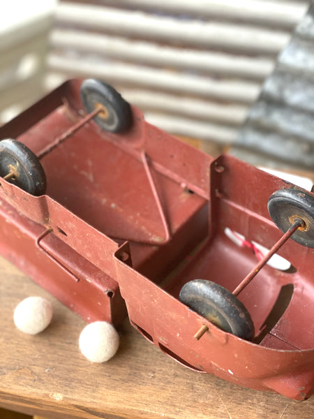 Early Red Metal Toy Truck