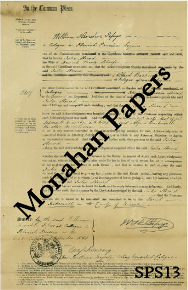 monahan papers sps13-1b William Pepys