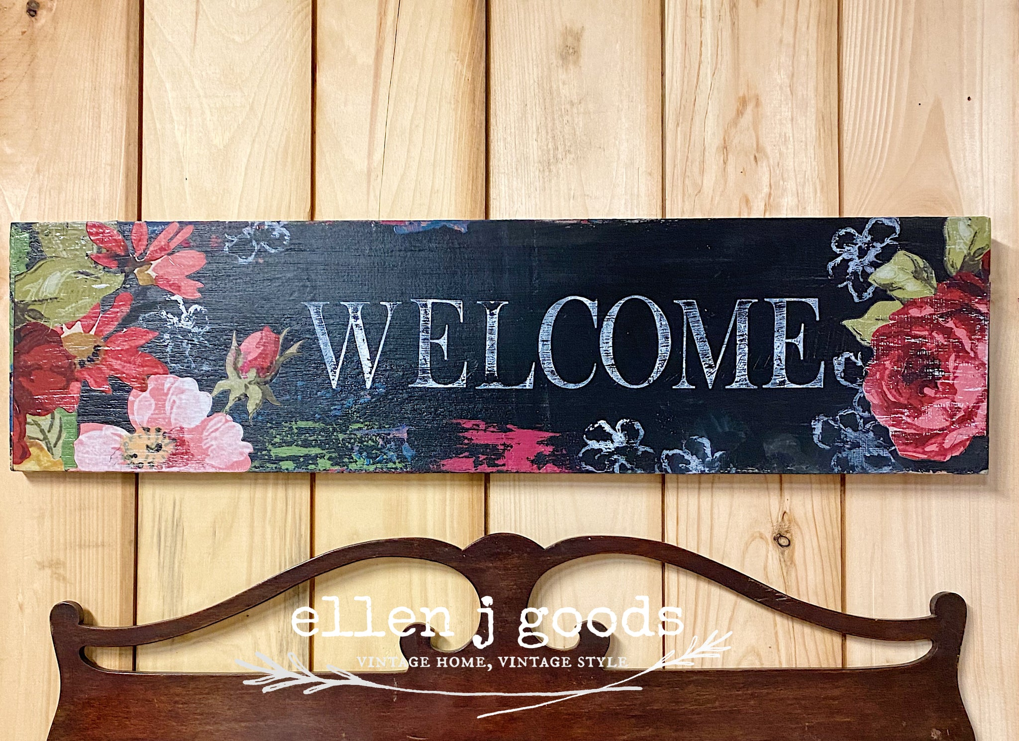 Floral Welcome Sign Kit (intro to Debi's DIY and IOD) Shipping 4/1