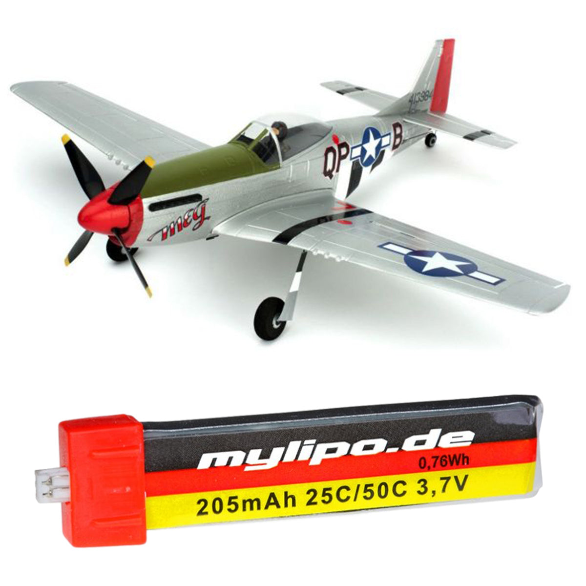 upgrade battery for Ultra-Micro P-51D Mustang (PKZU2400, PKZU2480)