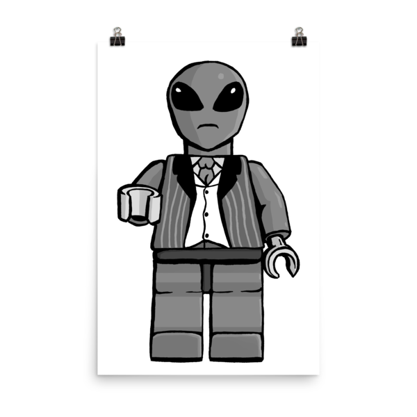 """Sir Alien"" Wall poster"