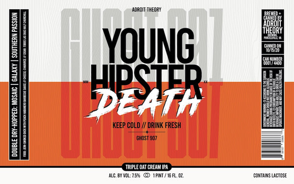 Cans: PRE-ORDER Young Hipster Death - Triple Oat Cream IPA 4-Pack