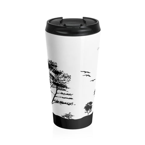 Stainless Steel Travel Mug Silhouette Trees - Le Kolibri Gift Ideas Reusables Ecofriendly Ecoconscious Environment Stylish