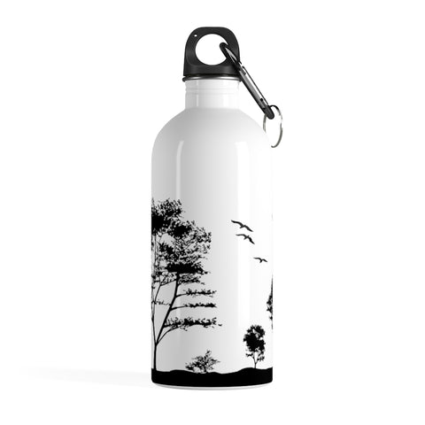 Stainless Steel Water Bottle (Silhouette Trees) - Le Kolibri Gift Ideas Reusables Ecofriendly Ecoconscious Environment Stylish