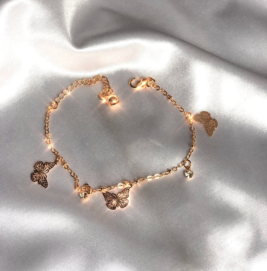 Butterfly Anklet & Bracelet-luving charms