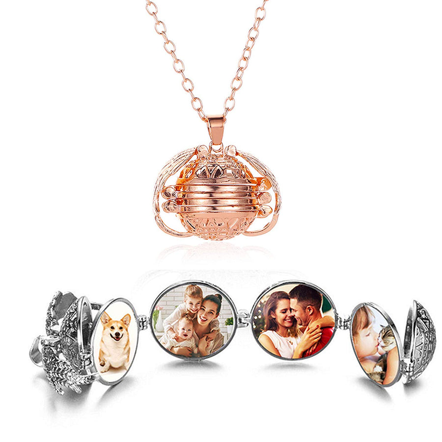 Multi Photo Locket-Necklace-luving charms
