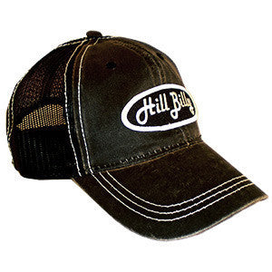 HillBilly Black on Black mesh trucker hat