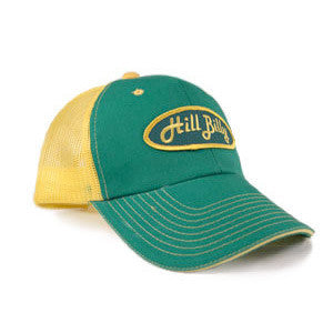 "The ""Classic"" HillBilly Green and Yellow Trucker Hat"