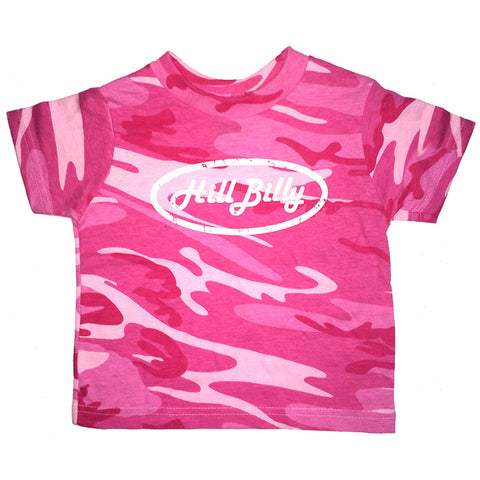 HillBilly Baby Pink Camo T Shirt