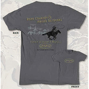 Men's Gray HillBilly Horse T-Shirt