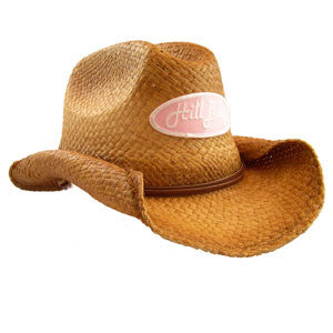 Pre-Shaped Cowboy Hat w/Pink Patch