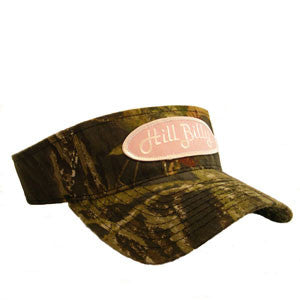 "The ""Mossy Oak"" HillBilly Visor w/Pink Patch"