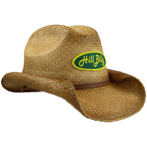 Pre-Shaped Cowboy Hat w/Green Patch