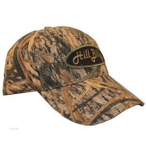 Shadow Grass HillBilly Camo Trucker Hat with Black Patch
