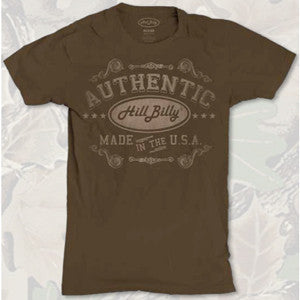hillbilly authentic printed t shirts