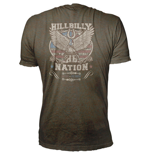 back of hillbilly nation redneck t-shirts