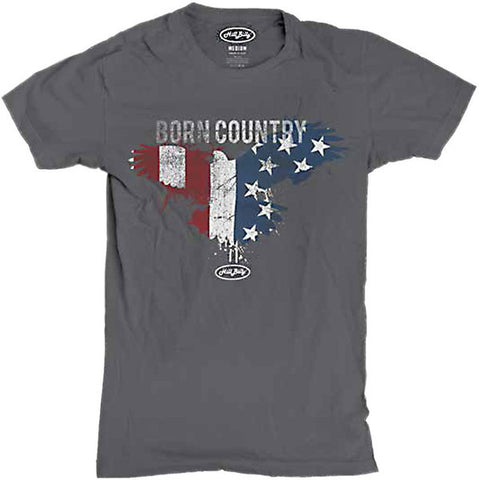 Men's Charcoal Born Country T-Shirt