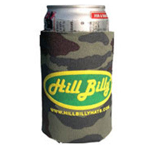 HillBilly Green Camo Beer Koozie