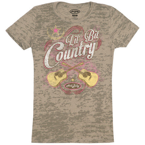 Lil' Bit Country Olive Burnout Country Girl Shirts