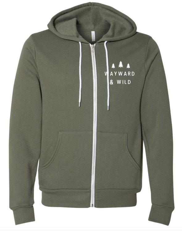 Mountains on Mountains Zip Up Hoodie