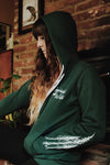Green Treesleeves Zip Up Sweatshirt